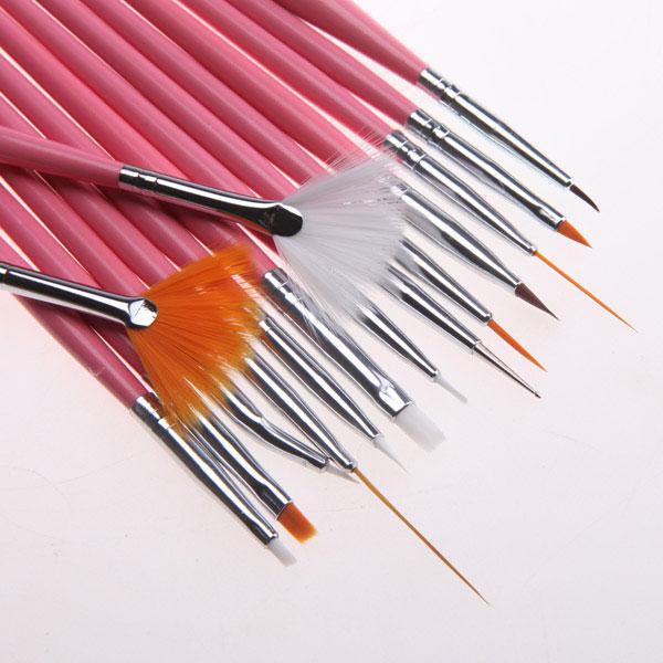 New Acrylic Nail Art Design Painting Tool Pen Polish Brush Set Kit