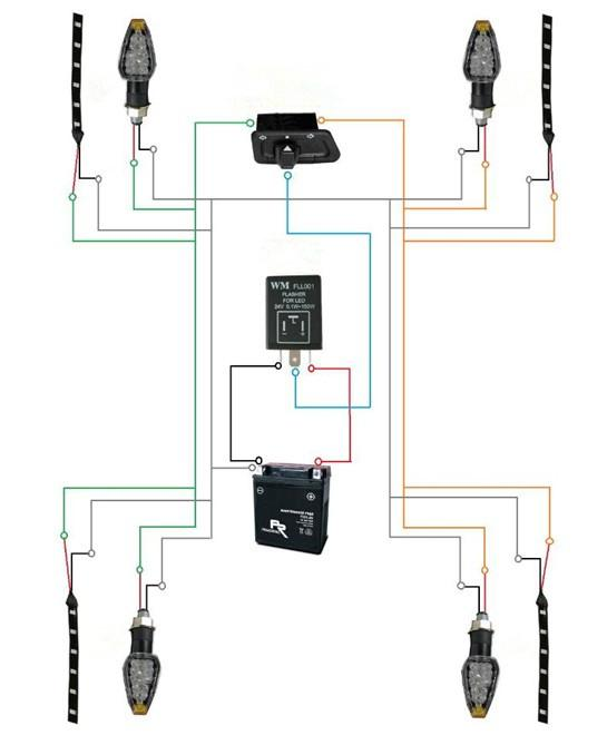For Electronic Flasher For Led Turn Signal Wiring Diagram
