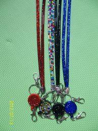 Wholesale Decorative Wholesale Lanyards - New Arrival Crystal decorative rhinestone neck lanyard strap mobilphone lanyard