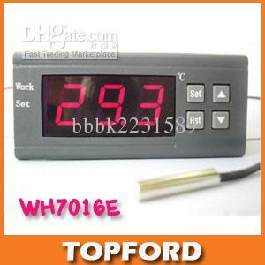 Controlador De Temperatura Digital DC12//24V AC220V WH7016C Pantalla LCD termostato