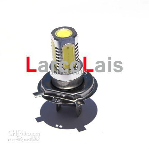 H4 7.5W Super brillante Coche LED Faros delanteros Alta luz baja Faros antiniebla Lámpara 12V Blanco
