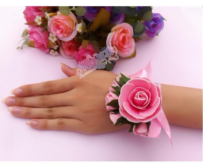 10個の結婚式の用品花嫁の手の花の姉妹の手花のバラの結婚式の小道具