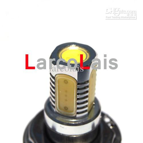 2 ADET H4 7.5 W Süper Parlak Araba LED Ön Farlar Yüksek Düşük Işık Sis Ampul Işıkları Lamba 12 V beyaz