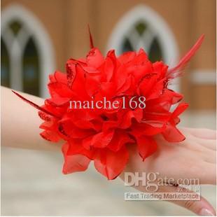 Crianças que executam flores, a flor da cabeça da flor da mão da noiva, flor do pulso da dama de honra