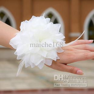 꽃을 수행하는 어린이, 신부 손 꽃 머리 꽃, 신부 들러리 손목 꽃