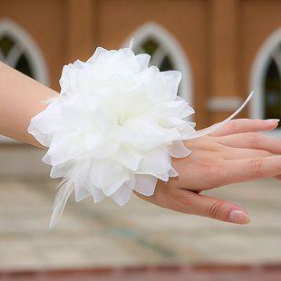 10 stks Kinderen die bloemen uitvoeren, de bruidhand bloem hoofdbloem, bruidsmeisje pols bloem