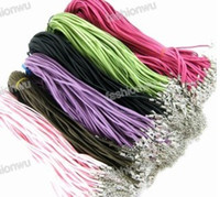 Wholesale Wholesale Cords - 100pcs lot 106Colors New Fashion Soft Velvet Cord Necklaces Chains With Lobster Clasps 2.7mm Wide Jewelry Findings & Components