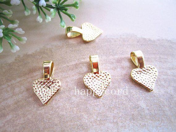 청동,은, 금 마음 보석금 - 당신의 Scrabble 도와 유리제 펜던트에 아름다운 10m 100pcs / LOT