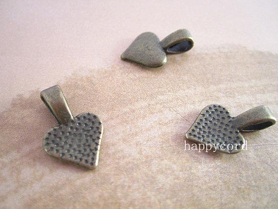 Bronzen, zilver, gouden hart borgtocht - prettiful op je scrabble-tegels en glazen hangers 10m 100pcs / lot