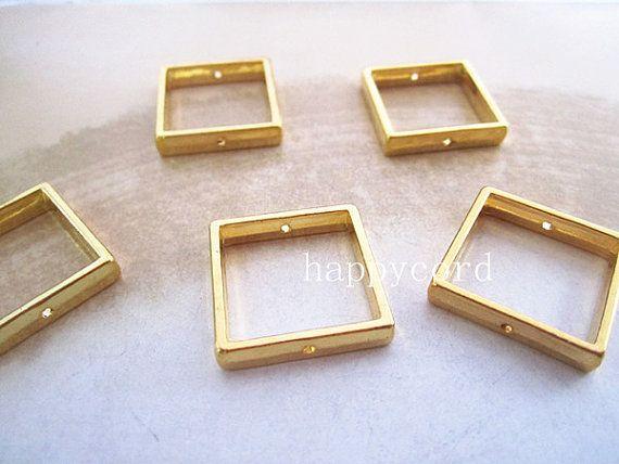 Résultats de bijoux en gros argent 100pcs / lot de lien d'anneau de saut carré 20mm
