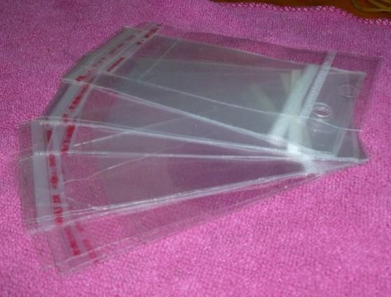 1000 pcs * OPP sacos de embalagem de plástico saco auto-adesivo sacos de embalagem de jóias Tamanho: 12 * 6 cm