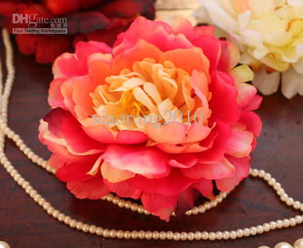 30 STKS NIEUWE 12 CM / 4.72 Inch Zijde Kunstmatige Simulatie Bloemkop Peony Rose Wedding Party