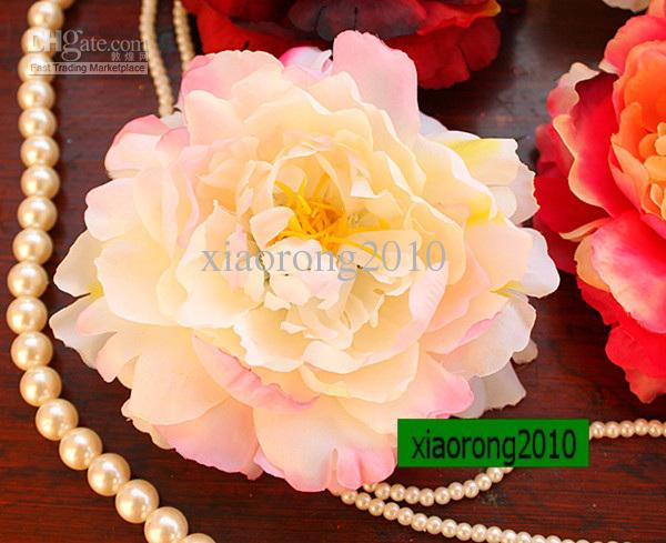 100p новый 12 см/4.72 дюймов Шелковый искусственный моделирование цветок глава пион роза свадьба
