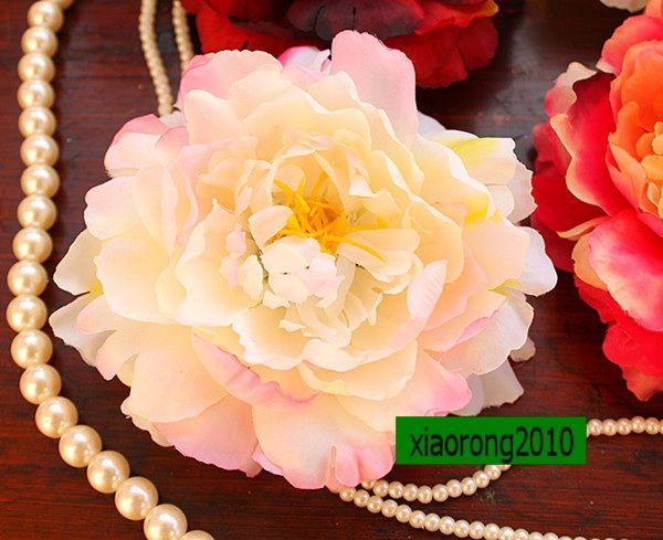 100P NIEUWE 12 CM / 4.72 Inch Zijde Kunstmatige Simulatie Bloemkop Peony Rose Wedding Party