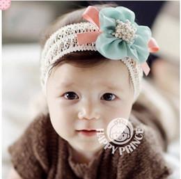 Wholesale Crochet Bows Wholesale - Baby kid Girl Flower Headband Hair bows Hairband Hair clips Satin Crochet Headbands Hair Accessories