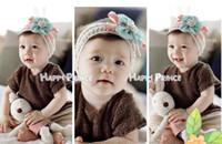 Wholesale Crochet Satin Headband - Baby Girl Flower Hair bows Hairband Hair Band Hair clips Satin Crochet Headbands Hair Accessories
