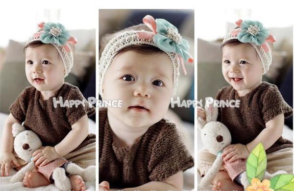 Bebê menina cabelo flor arcos Hairband faixa de cabelo grampos de cabelo de cetim de crochê Headbands acessórios de cabelo