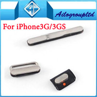 Wholesale Iphone 3g Volume - 10 sets lot For iPhone 3G 3GS volume mute power button side buttons 3 pieces