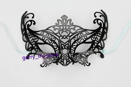 Wholesale Red Scroll - Fancy Scroll Cut Mask Mardi Gras Masquerade Halloween Costume Party MASKS Can Choose Color Red Free Shipping