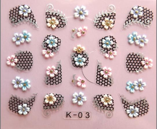See larger image - 3d Design Diy Nail Art Stickers Tip Decal Manicure Decorations