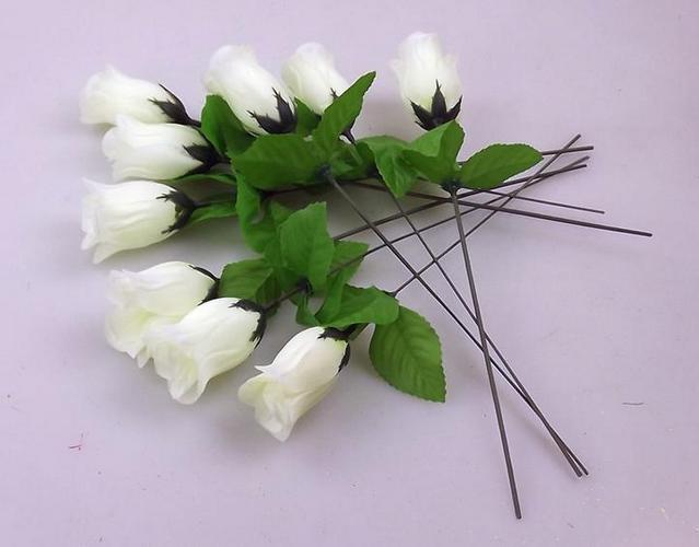 Cream 30cm / 11.8 tum Silke Singel Stam Rose Artificiell Blommor Simulering Blomma Peony Rose Camellia Bröllop Jul