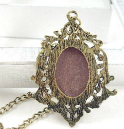 Wholesale White Gold Cameo - Punk Vintage Jewelry Palace Retro Beauty Head Pendant Long Necklace Cameo Necklace For Women Gifrs LY1