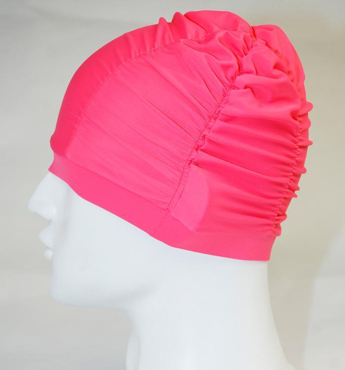 1 pcs senhoras natação chapéu touca de natação turbante cor elástica vermelho ou azul