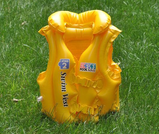 1 개 INTEX 수영장 학교 2 단계 해변 플로트 팽창 식 보조 수영복 색상 옐로우