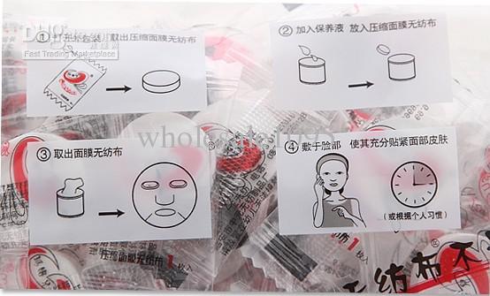 Бесплатная доставка новый уход за кожей лица DIY лицевой бумаги компресс маска Маска Бесплатная доставка по EMS