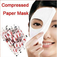 Wholesale Oiled Paper - Free Shipping New Skin Face Care DIY Facial Paper Compress Masque Mask Free Shipping By EMS