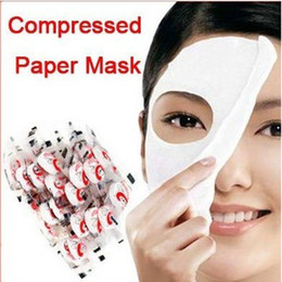 Wholesale Mask Masque - Free Shipping New Skin Face Care DIY Facial Paper Compress Masque Mask Free Shipping By EMS