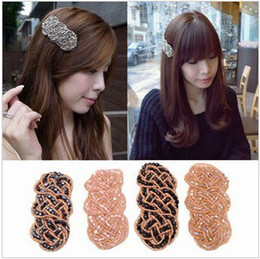 Wholesale Clamps Bride - Wholesale hot new hair accessories hairpin women bride crystal hair clamp