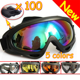 Wholesale Dust Protection - 100PCS LOT Brand New Tactical   Hunting   Airsoft Wind Dust Protection UV - X400 Goggles Glasses