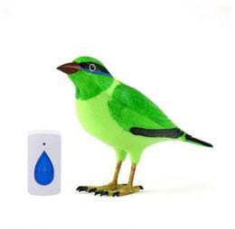 Wholesale Doorbell Alarm - Free Shipping+Tracking Number Hot New Bird Wireless Doorbell Remote Control Chime Doorbell Alarm