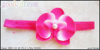 Hairband orchid chemicals - Baby pearl butterfly orchid Glossy fine hair band girl headband hair accessories children headbands