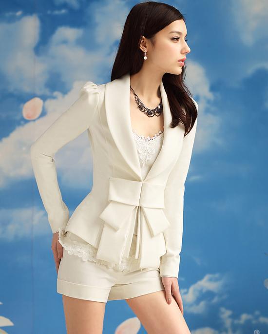 Mulheres casaco de roupas de lapela casuais bowknot ternos smoking blazer jaqueta casacos casacos 57001