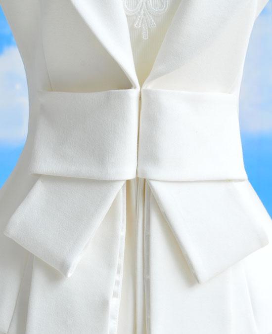 Womens Coat Clothing Revers Casual Bowknot Pakken Tuxedo Blazer Jacket Bovenkleding Jassen 57001