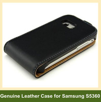 case for galaxy y - Cowhide Genuine Texture Leather Flip Case With Magnetic Closure for Samsung Galaxy Y S5360