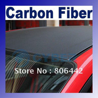 diagonal carbon fiber Canada - 24*60 3D Diagonal Sheet Carbon Fiber Vinyl Car Sticker Free Shipping