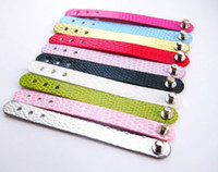 Wholesale Wholesale 8mm Leather Band - 50pcs PU leather Ring Belt Fit 8mm slide charms