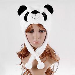 Wholesale Cartoon White Ear Hat - Hot Selling Cartoon Animal Panda Fluffy Plush Hat Cute Cap Soft Beanie Ear Flaps Christmas Gift