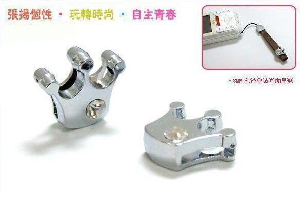 Groothandel 50 stks 8mm Crown Slide Charms Fit 8mm Telefoon Strips Pet Collar Armband DIY Accessoires