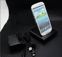Wholesale Function Desk - USB Data Sync Battery Charger Cradle Desk Dock Stand Charger For S3 SIII i9300 Double Function New