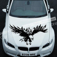 Wholesale Eagles Car Stickers - Cool! Totem Eagle Series TT023 B Auto Car Decal Sticker PVC(black,white,red,Gray colour)
