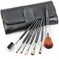 Wholesale Eyeshadow Leather Case - 7PCS Professional Makeup Cosmetic Brush set Kit Case#6142