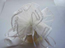 China Free Ship 200pcs White 26cm Diameter Organza Round Plain Jewelry Bags Wedding Party Candy Gift Bags cheap organza round wedding gift bags suppliers