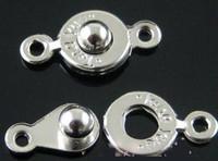 bijoux en métal achat en gros de-2017 100 ensembles / lot Métal Petit fermoir à bouton-pression fermoirs Trouver 7.5mm Résultats de bijoux Composants Fermoirs Crochets