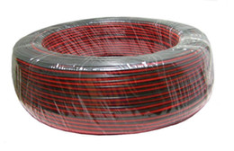 Cable 2pin cable for single color 5050 3528 5630 3014 2835 led strip,600m lot,600m long , red and black wire on Sale