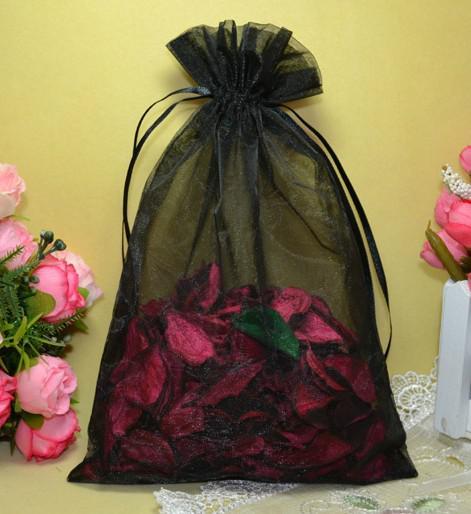 Envío Gratis 200 unids 16 * 22 cm Bolsas de Pétalos de la Toalla de La Joyería de Organza Del Banquete de Boda Dulces de Navidad Bolsas de Regalo