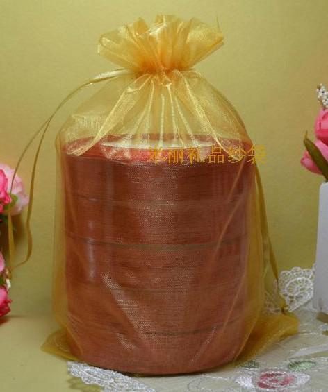 Gratis fartyg 200st 16 * 22cm Organza Smycken Handduk Petal Väskor Bröllopsfest Candy Beads Xmas Presentväskor